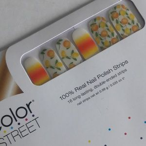 4/$48 Color street nails squeeze the day fruit